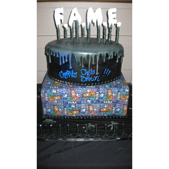 Chris Brown's F.A.M.E. Cake