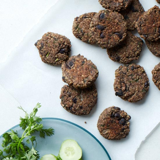 Black-Bean-and-Quinoa-Falafel Sandwiches