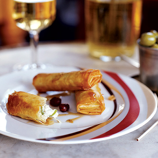 Cabrales Phyllo Rolls with Sherry Dipping Sauce