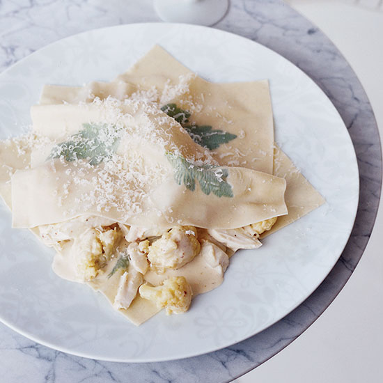 Cauliflower and Crab Ravioli
