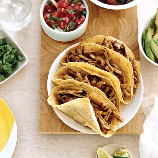 Soft Pork Tacos with Spicy Black Beans