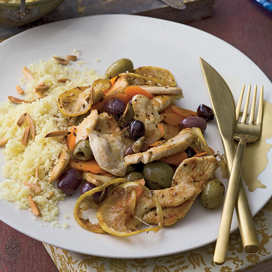 Chicken With Carrots and Olives