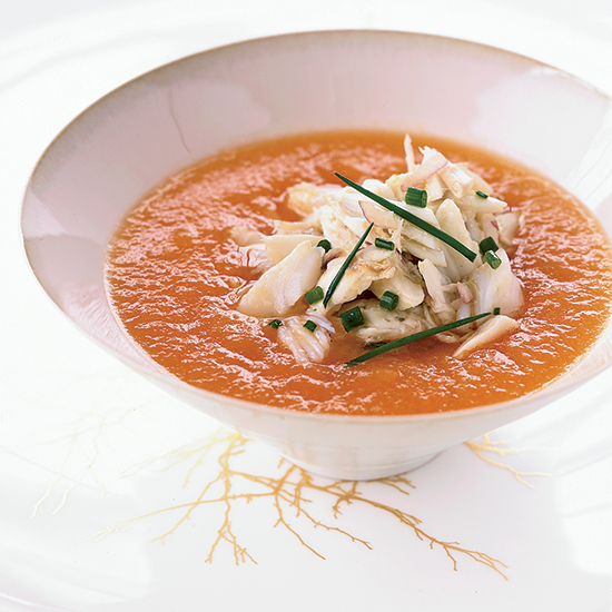 Summer Melon Soup with Crab