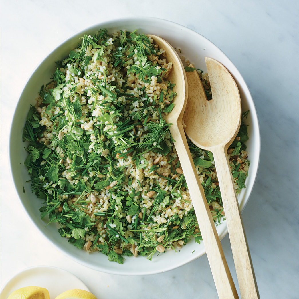 Herb and Bulgur Salad with Sunflower Seeds