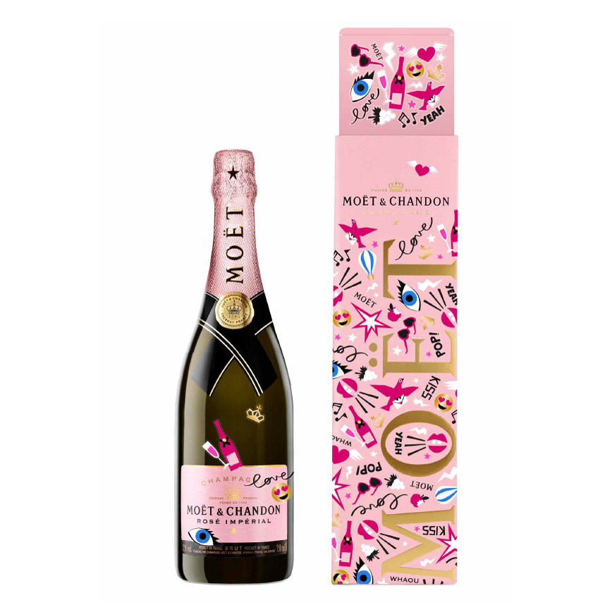 Moët & Chandon Rosé Imperial eMoëticon Bottle