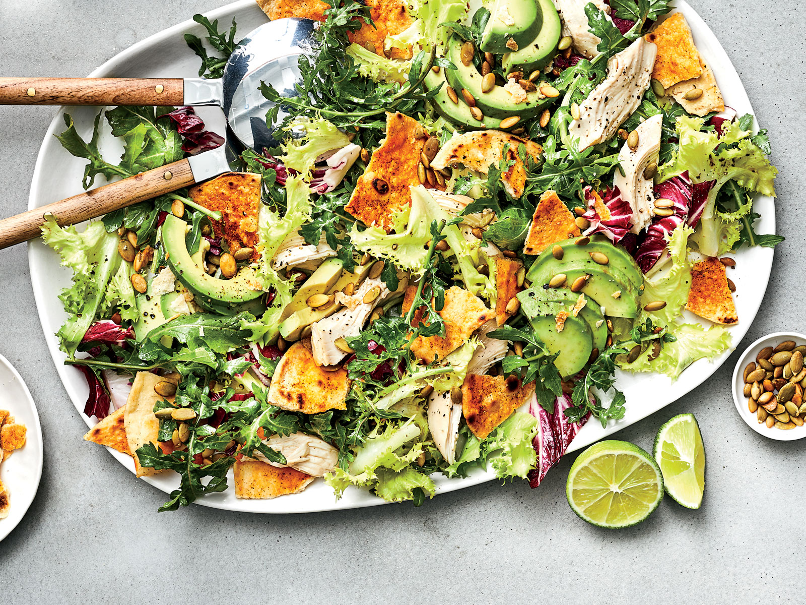 Peppery Greens Salad 