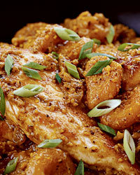 Chicken Almond Curry with Apricots