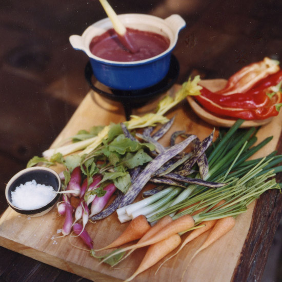 Red Wine Bagna Cauda with Crudités