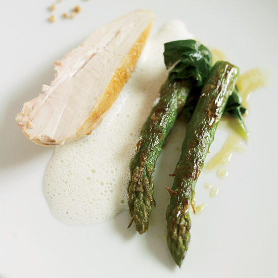 Pan-Seared Chicken Breasts with Barley Foam