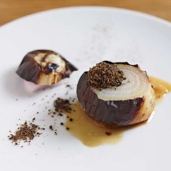 Slow-Roasted Sweet Onions with  Licorice  Powder