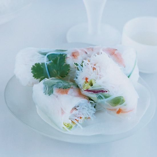 Shrimp-and-Vegetable Summer Rolls