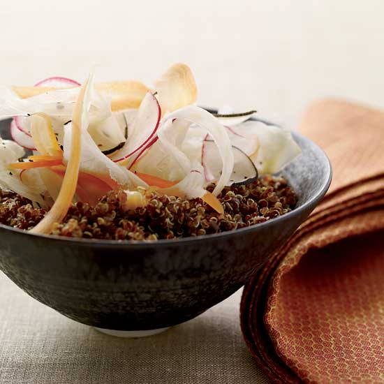 Quinoa Salad Recipes: Lemony Quinoa Salad with Shaved Vegetables