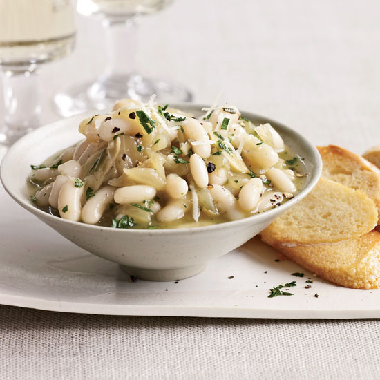White Beans with Onion Confit
