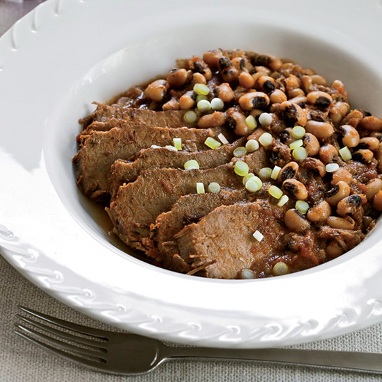 Slow Cooker Spicy Brisket with Texas Caviar