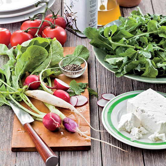 Greek-Style Tomato Salad with Mint and Feta
