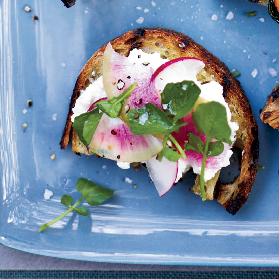 Feta-and-Radish Toasts