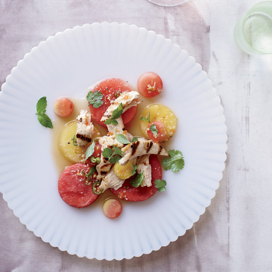 Thai Chicken and Watermelon Salad