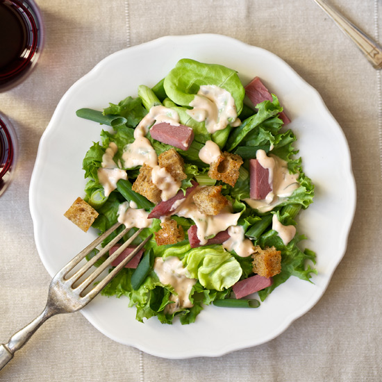 Corned-Beef Salad with Thousand Island Dressing