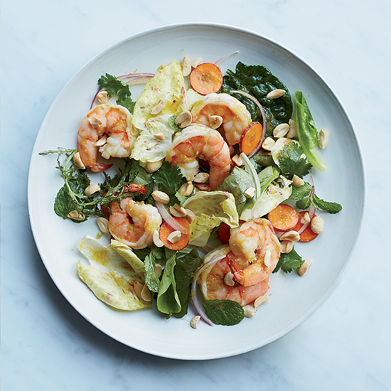 Shrimp Salad with Green Curry Dressing