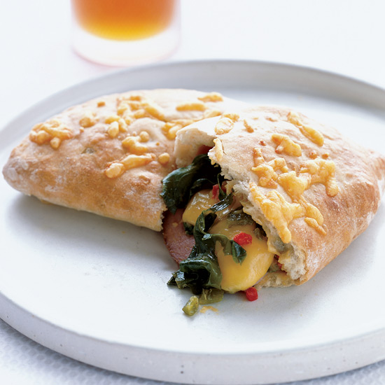 Ham and Chile-Cheddar Calzones