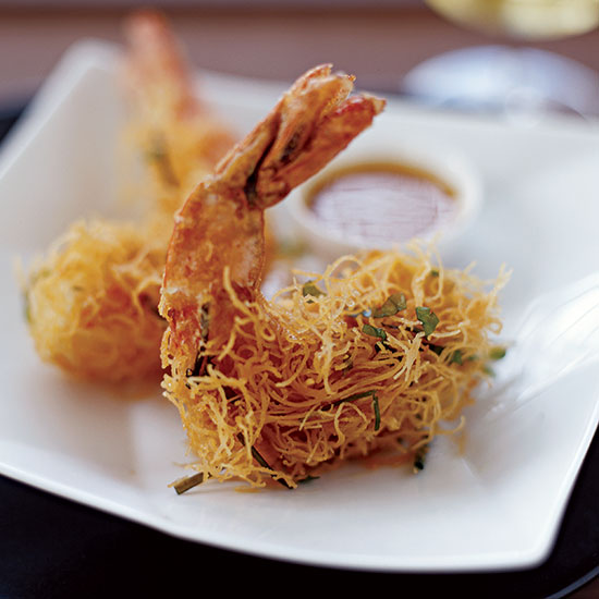 Crispy Shrimp in Kataifi Crust