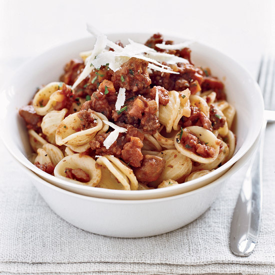 Orecchiette Bolognese with Chestnuts