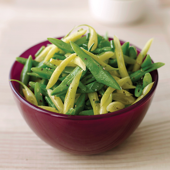 Thin-Sliced Beans with Citrus Zest and Chives