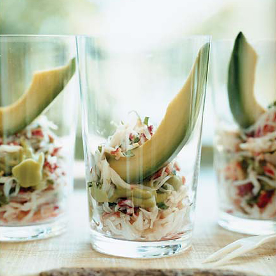 King Crab and Avocado Shooters
