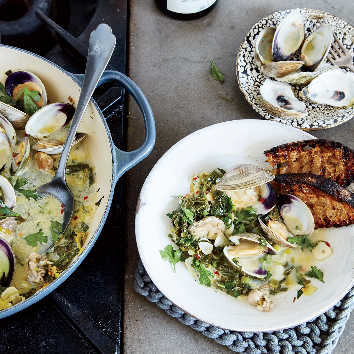 Clam-and-Oyster Pan Roast