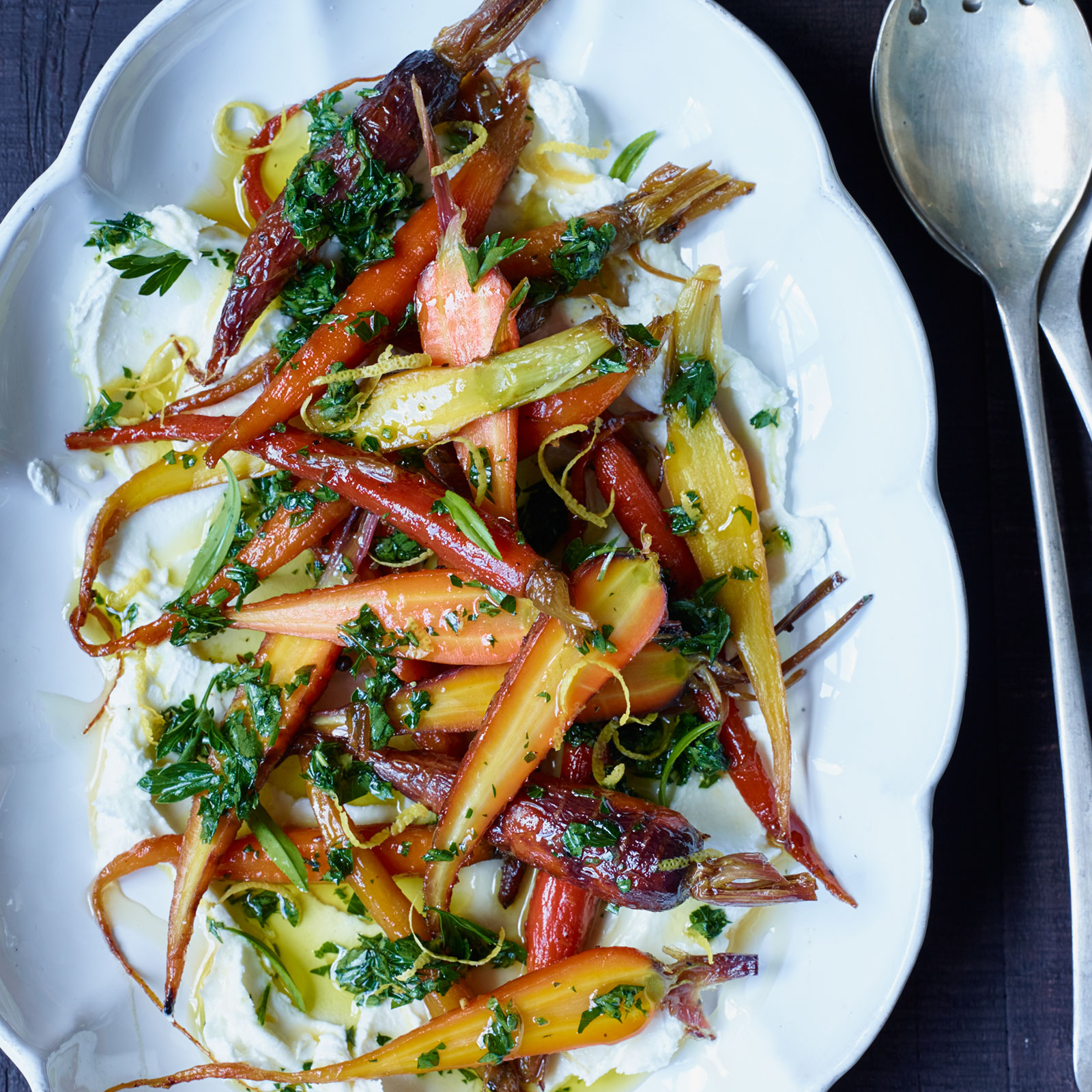 Roasting recipe finder food wine glazed carrots with goat cheese and honey forumfinder Image collections