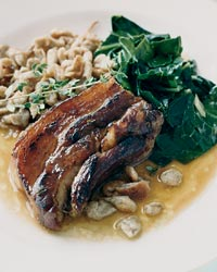 Pork Belly with Buckwheat Spaetzle and Collards