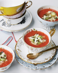 Spicy Tomato-and-Watermelon Gazpacho with Crab