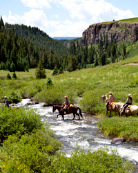Horseback Riding from Vail to Aspen, Colorado
