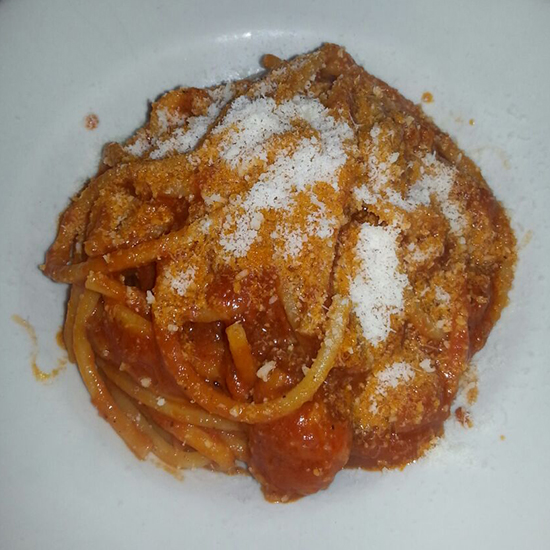 7. Bucatini all'Amatriciana (Italian)