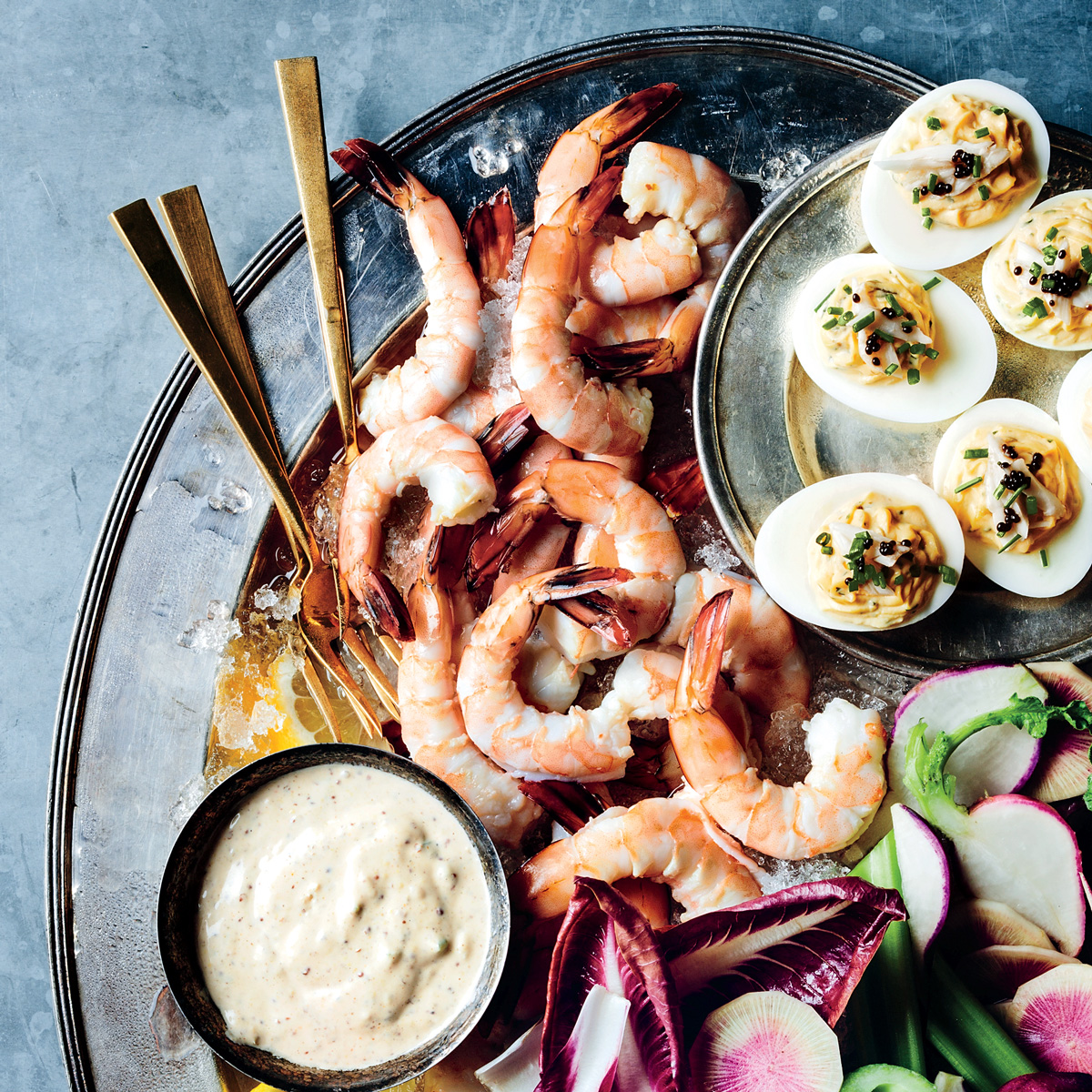 Pickled Shrimp with Red Remoulade