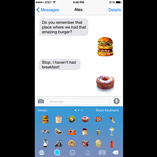 Food & Wine Emoji Keyboard
