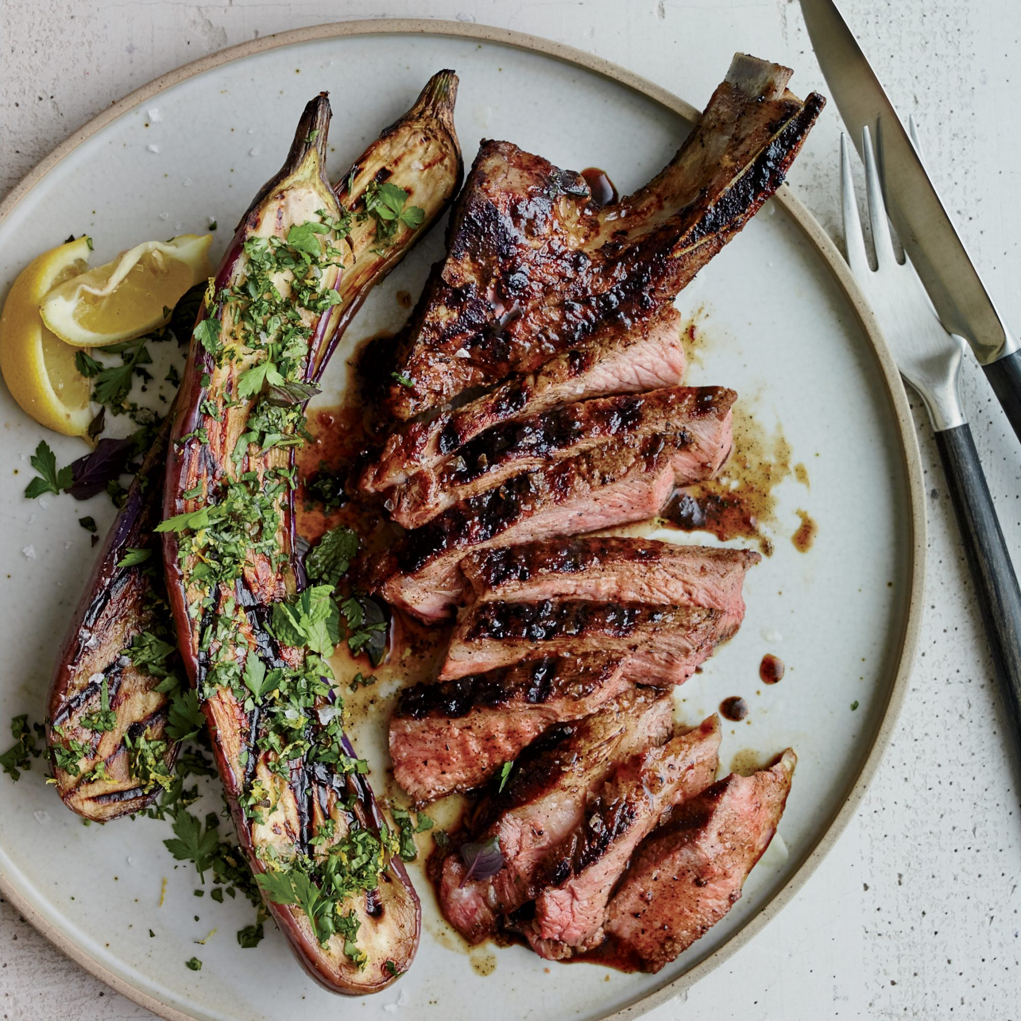 Grilled Pork Chops With Malt And Burnt Onion Glaze