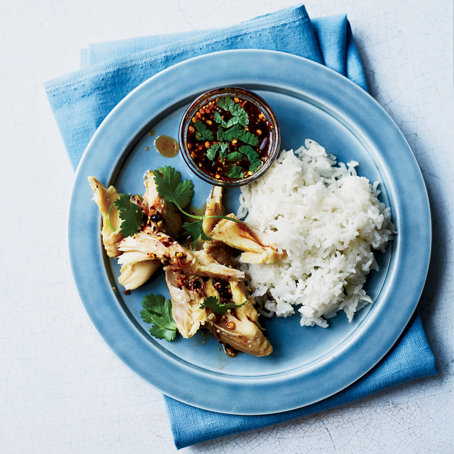 Isan-Style Catfish with Sticky Rice and Jaew Dipping Sauce