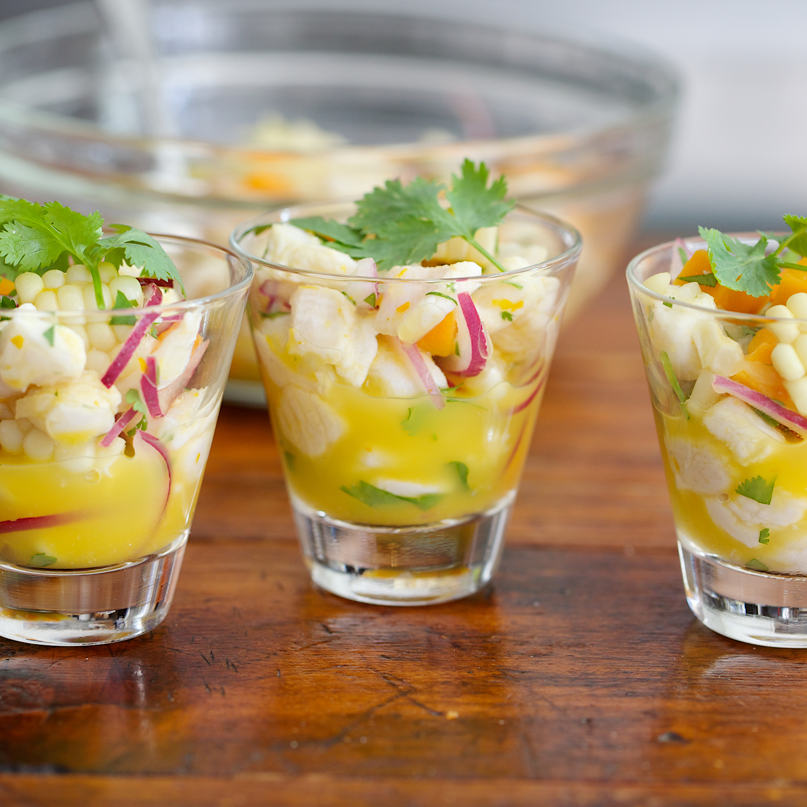 Ceviche with Corn and Sweet Potatoes
