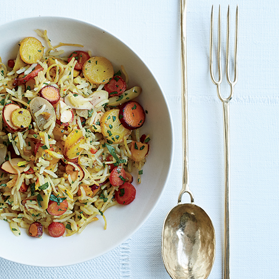 Ann Ladson's Delicate Tableware Inspired This Picnic-Perfect Rice Pilaf