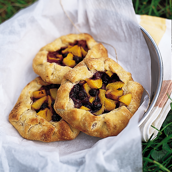 South Carolina Peach and Blueberry Tartlets