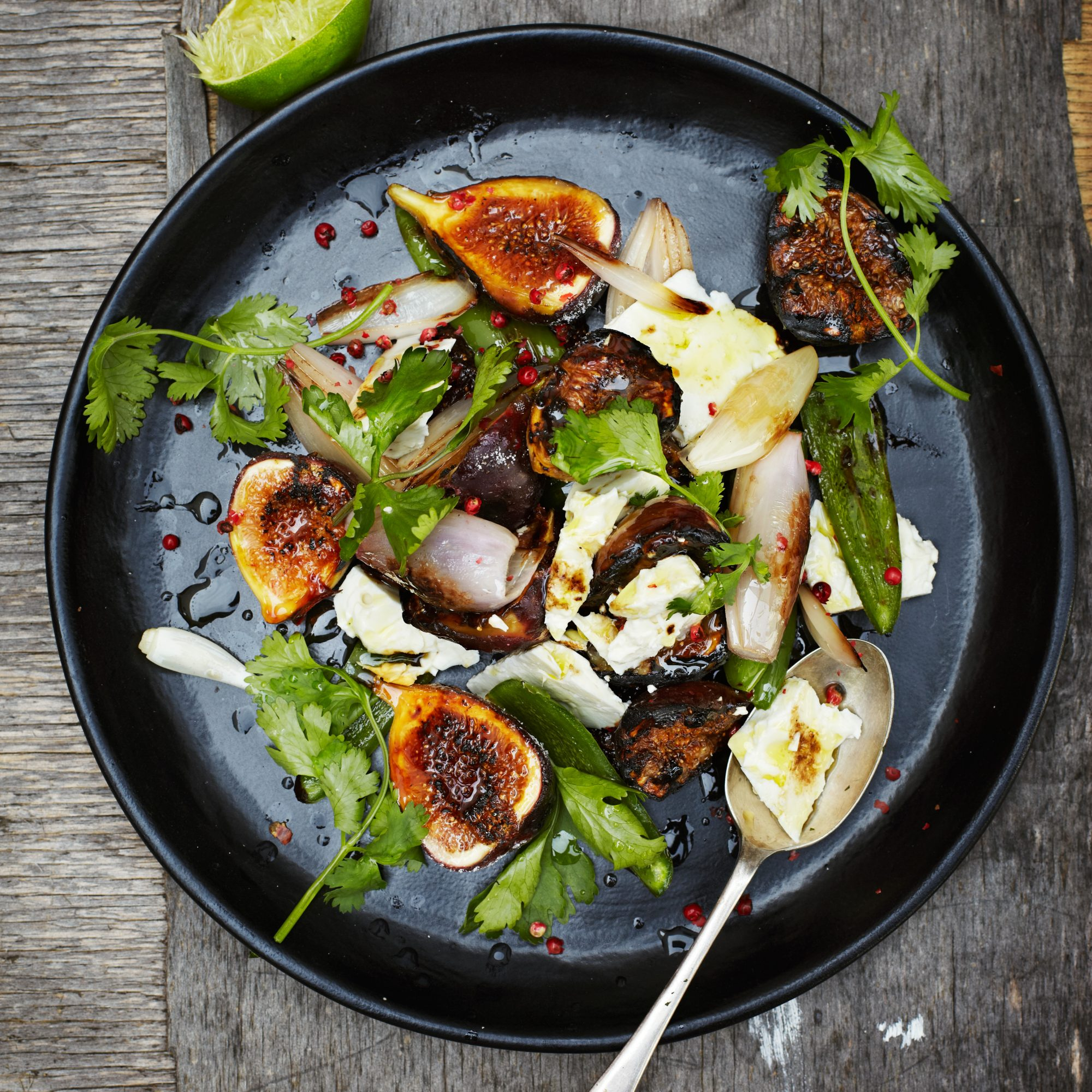 Fresh Fig Salad With Feta And Blistered Jalapeños Recipe