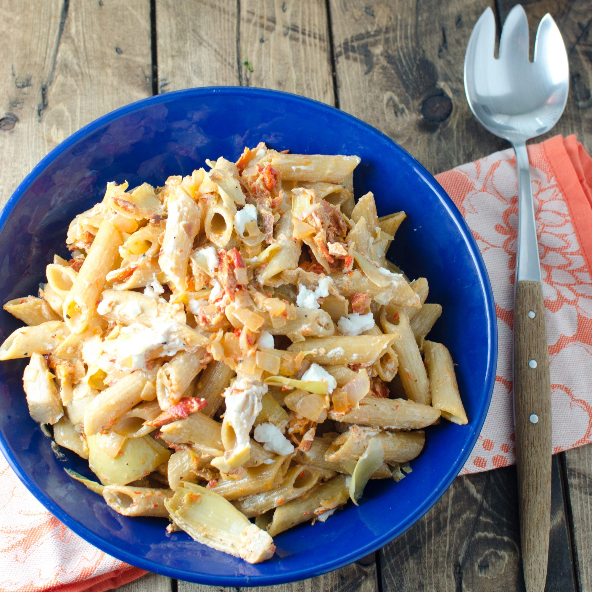 Lemony Smoked Salmon–and–Artichoke Heart Whole-Wheat Pasta