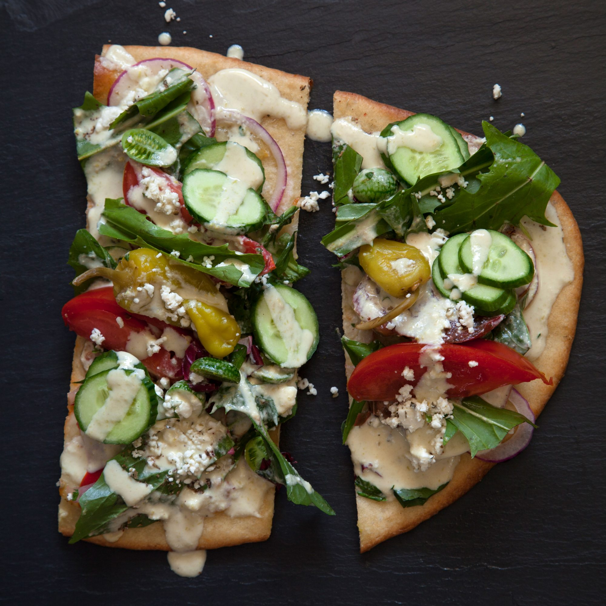 Greek Salad Flatbreads