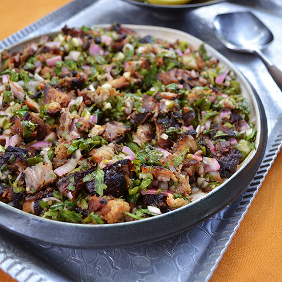 NYE Supper: Pork Belly Sisig