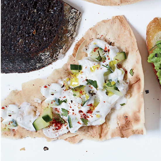 Flatbreads with Cucumber Raita