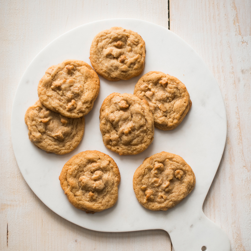 Chewy Peanut Butter Cookies with Peanut Butter Chips