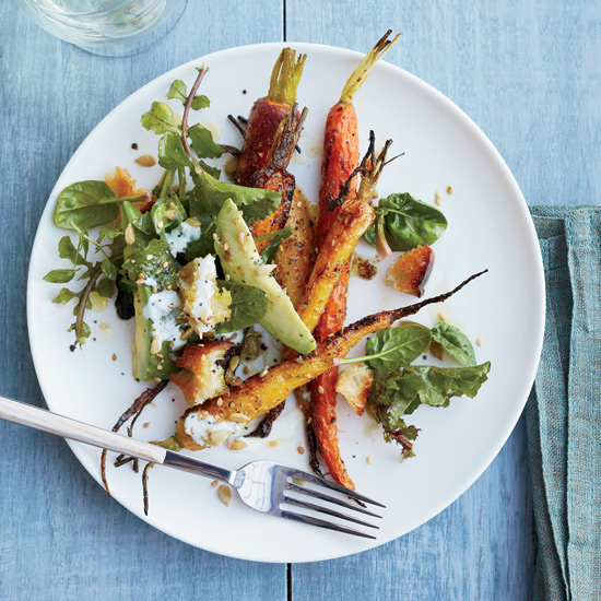 Roasted Carrot And Avocado Salad With Citrus Dressing Recipe Jamie