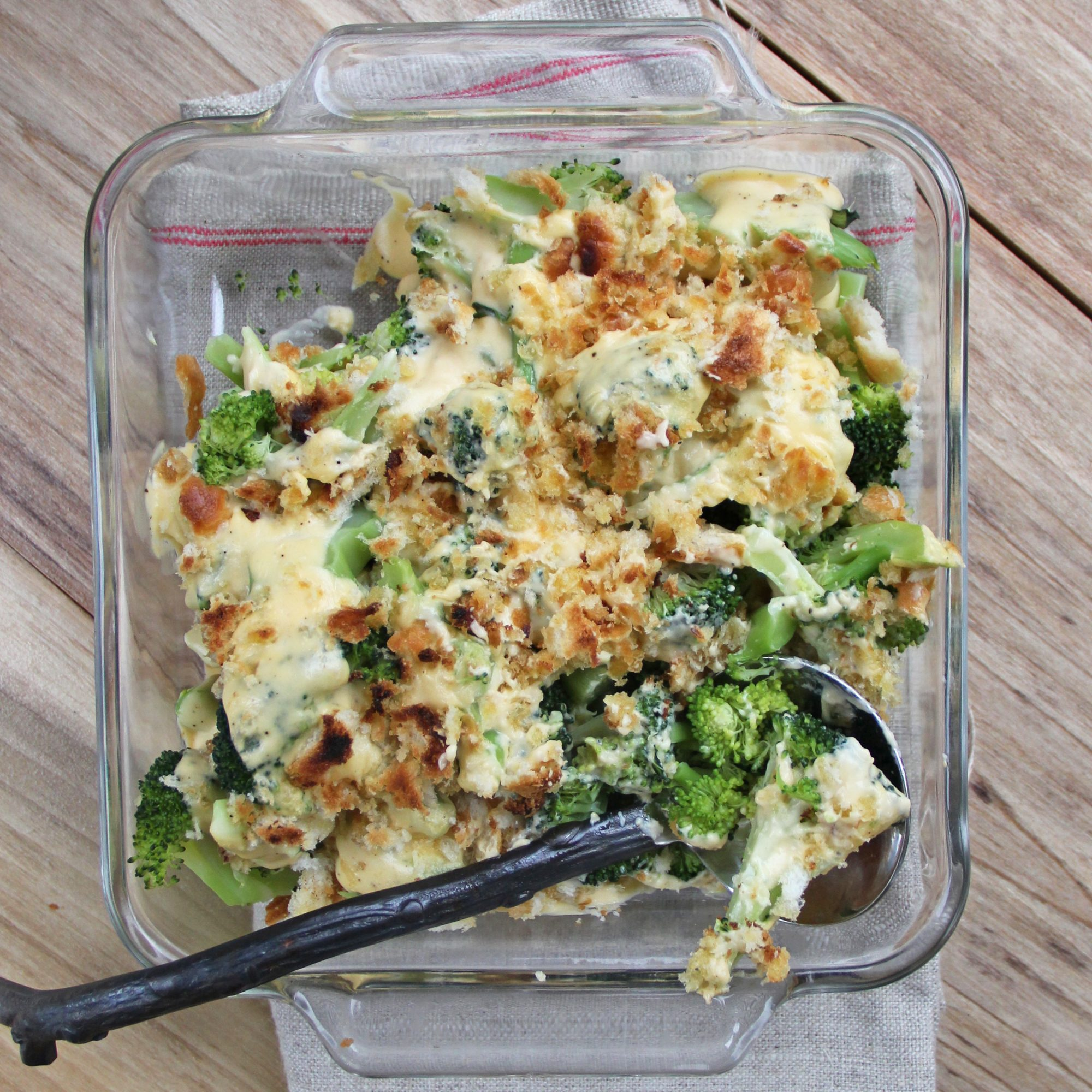 Broccoli and Cheddar Casserole with Leeks
