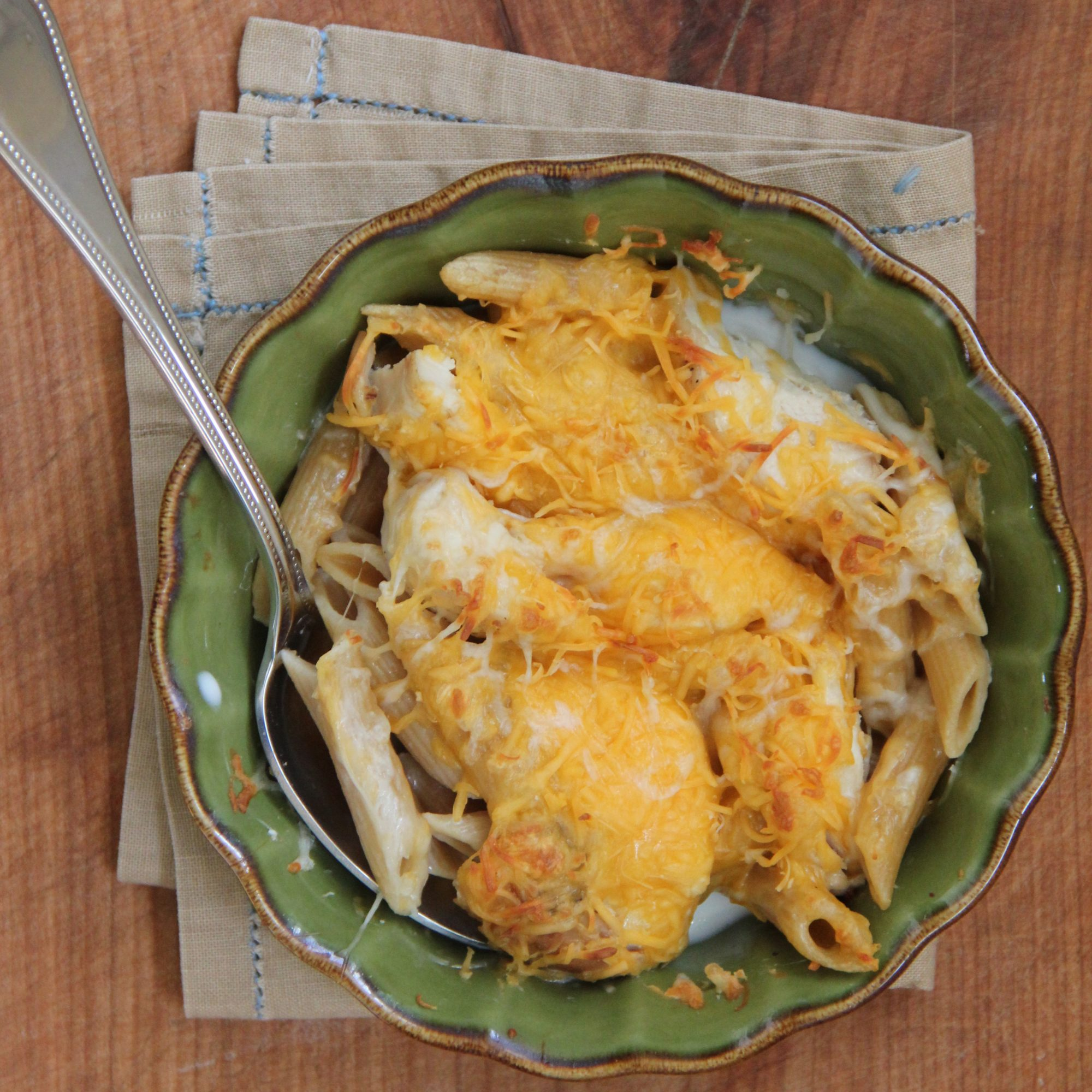 Chicken and Whole Wheat Ziti Casserole